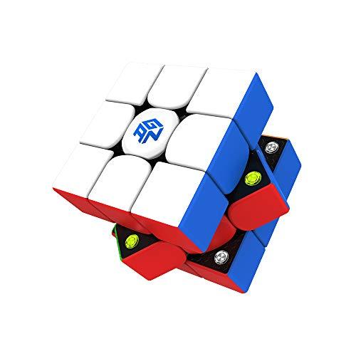 GAN 356 M, 3x3 Cubo Velocidad Mágico Cubo Speed Puzzle de Gans Magnético Cube Juguete Rompecabezas Regalo (Lite)