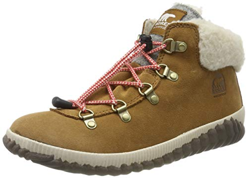 Sorel Mädchen Youth Out N About Conquest Schneestiefel, Braun (Camel Brown/Quarry), 36 EU