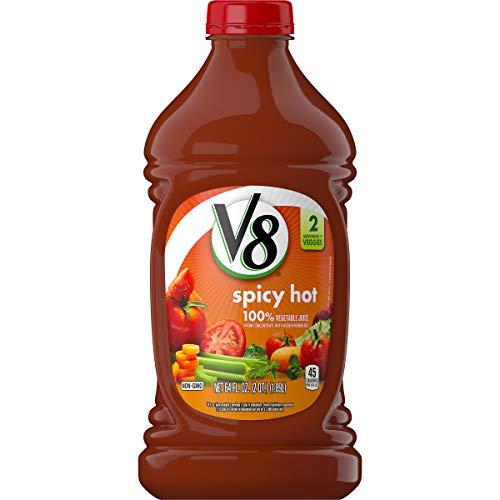 V8 100% Spicy Hot Vegetable Juice, 64 oz. Bottle (Pack of 6)