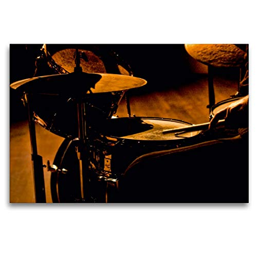 CALVENDO Premium Textil-Leinwand 120 x 80 cm Quer-Format Schlagzeug - einfach cool, Leinwanddruck von Peter Roder