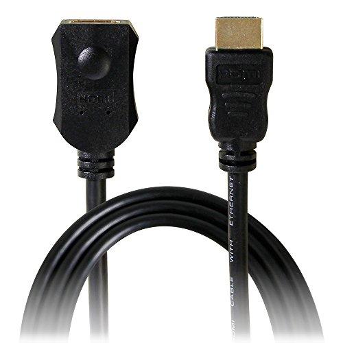 オウルテック HDMIケーブル 延長タイプ 120cm (タイプAオス - タイプAメス) ブラック AMZ-HSHDEAA12-BK