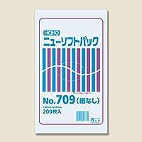 シモジマ:HEIKO ポリ袋 透明 ニューソフトパック 0.007mm No.709 紐なし 200枚 006694729