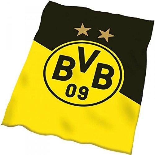 BVB Borussia Dortmund Fleecedecke Coral BVB Schräg 150x200cm