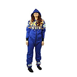 Hooded Onesie Jumpsuit With Zippered Drop Seat Bottom