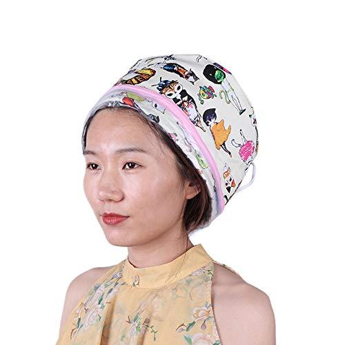 Hårvård termisk ångare mössa, SPA Treatment närande hår vård lock elektrisk hår termisk behandling, hårvård mössa hårvård hatt för naturligt eller skadat hår (EU)
