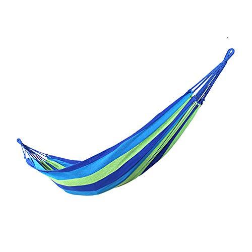 SSDAOO Hamaca De Lona Al Aire Libre Soltero Espeso Ocio Hamaca Cifrada Hamaca Silbido Desierto Camping Hamaca,Azul
