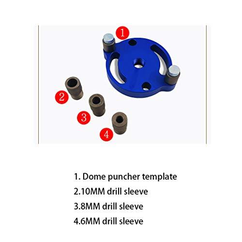 Lisanl 6 8 10-mm-Bohrschablonenführung Holzdübel-Lochsuchvorrichtung Vertikale Bohrschablonenführung