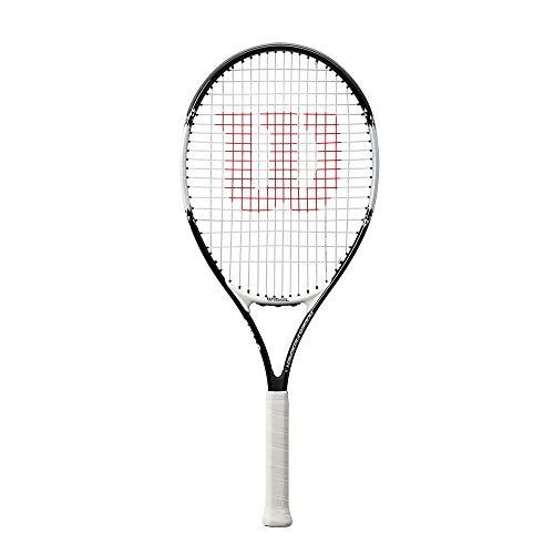 Wilson Tennisschläger Roger Federer 26, für Kinder im Alter ab 11 Jahren, AirLite-Legierung, schwarz/weiß, WR028210U