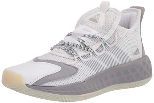 adidas unisex adult Coll3ctiv3 2020 Low Basketball Shoe, White/Purple/Chalk White, 5 US