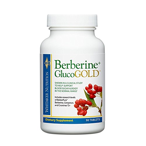 Dr. Whitaker's Berberine+ GlucoGold Supplement for Clinically Validated Blood Sugar and Cholesterol...