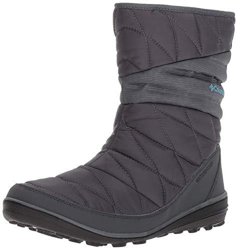 Columbia Women's Heavenly Slip II Omni-Heat Snow Boot, Graphite, Canyon Blue, 6.5