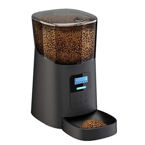 Arespark Futterautomat, 6L Automatisch Futterspender für Hunder Katze, 6 Mahlzeiten/Tag, Timer und Ton Aufnahmefunktion, Anti-Blocking-Design, LCD Bildschirm Pet Feeder