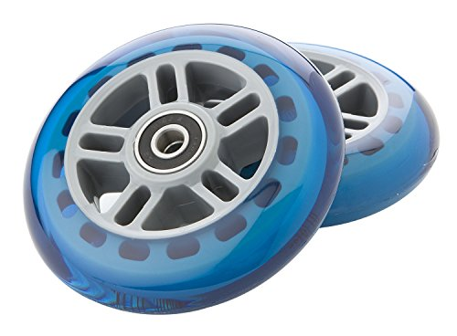 Razor Scooter Replacement Wheels Set with Bearings - Blue