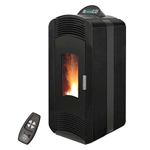Pelletofen 10 kW Blaze Extra 12, Farbe:schwarz