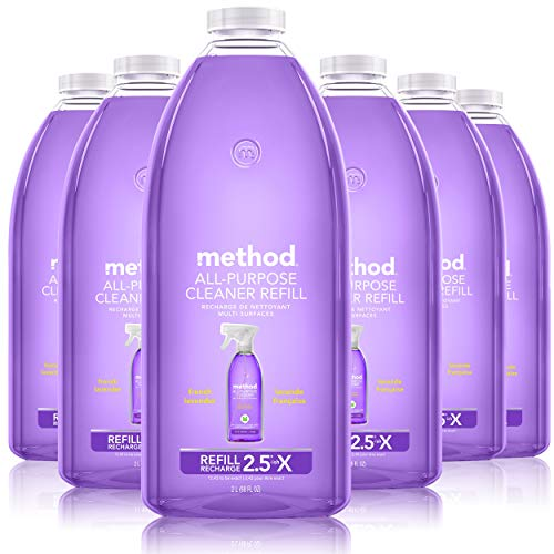 Method All-Purpose Cleaner Refill, French Lavender, 68 Ounces, 6 pack, Packaging May Vary