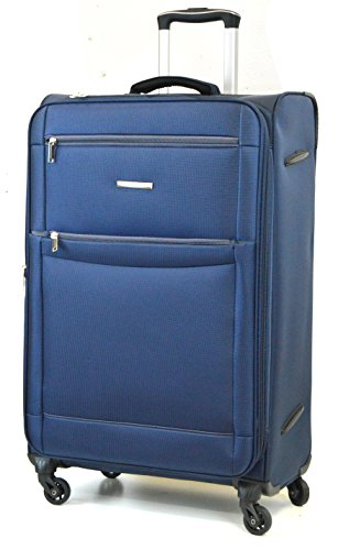 DK Luggage Starlite Lightweight WLS08 Large 28' Suitcases 4 Wheel Spinner Navy