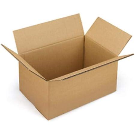 Lot de 12 boîtes en carton ondulé, pour expéditions, entrepôts, déménagements, 60 x 40 x 40cm