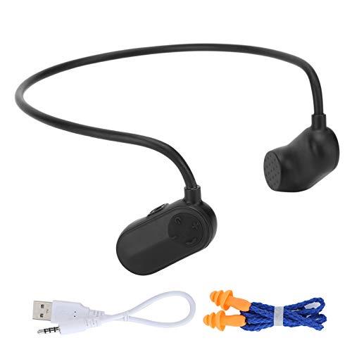 Rosilesi Auricular de conducción ósea - V13 Auricular de conducción ósea IPX8 Auricular Impermeable HiFi Reproductor de MP3 para Deportes de natación