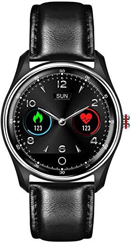 hwbq Reloj de pulsera inteligente con pantalla táctil ECG+PPG Monitor HRV Informe de alarma de calorías Recordatorio IP67 impermeable para todos-C