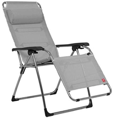 ALL-JingHong Sonnenliege verstellbar Relaxliege Gartenliege Faltbare Schaukelliege Liegestuhl Schaukelstuhl Klappbar Schaukelsessel inkl. Nackenkissen Grau JH-1197