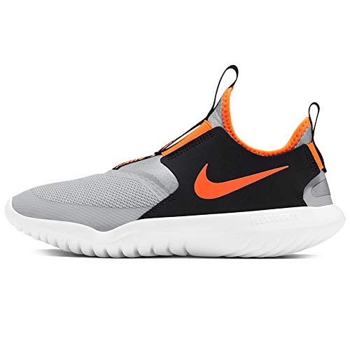 Nike Flex Runner (gs) Big Kids (Smoke Grey/Total Orange, Numeric_4)