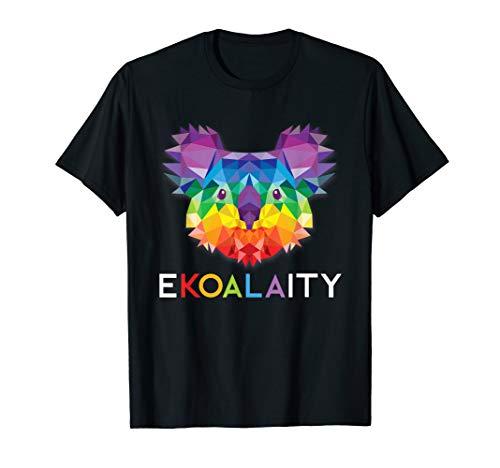 CUTE KOALA Rainbow Flag Gay Pride Shirt Men Women Kids Gift
