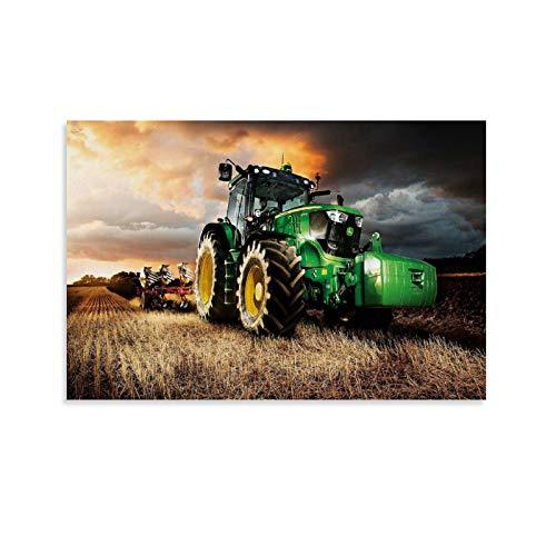 TOUKUI Fondos De Pantalla Tractores John Deere Poster Pintura Decorativa Lienzo Arte Pared Sala de Estar Poster Dormitorio Pintura 30x45 cm