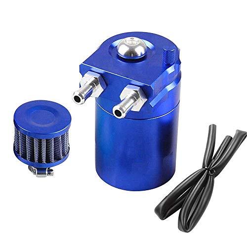 Catch 300 ml de aceite de aluminio puede embalse de coches Tank Universal Separador de aceite de aire con filtro de aire, mangueras y otros accesorios (Blue)