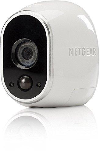 Arlo VMC3030-100EUS Caméra Additionnelle HD 100% Sans Fil, Vision Nocturne, Etanche Intérieure/Extérieure - Compatible avec Systèmes Arlo, Arlo Pro et Arlo Pro 2, Métal