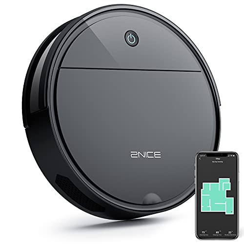 2NICE Robot Vacuum Cleaner, Slim 1800Pa Strong Suction Wi-Fi/APP Control/Compatible with Alexa,...