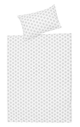 Schardt 13 609 1/764 Parure de lit pour enfant 2 pièces Circle star, gris