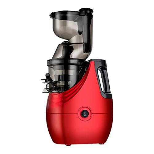 LQ ZT Lenta licuadora, batidora portátil, 800 ML Cold Press Extractor, trituradora de Hielo, máquina de Picar Carne, Filtro Gratuito Easy Clean, for la Seguridad del Kitchen (Color : Rojo)