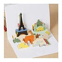 zhangzidong 10ピースクリエイティブ紙彫刻3Dステレオグリーティングカード子供の日誕生日ギフトカードキッズホリデーアクセサリー-8