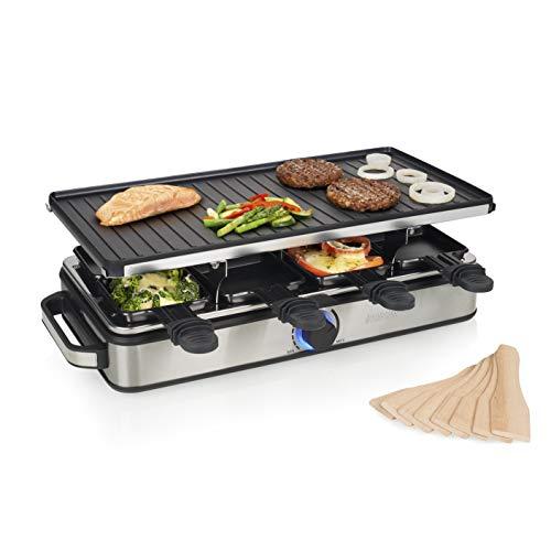 Princess Deluxe 8 - Raclette multifunción para 8 personas, 1400 W