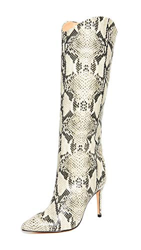 SCHUTZ Women's Maryana Leather Dress Boot (5, Natural)