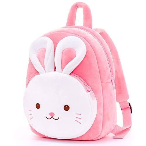 Gloveleya Kinderrucksack Kleinkind Rucksack Mädchen Hase Tasche für Kinder RosaÜber 3 Jahre alt