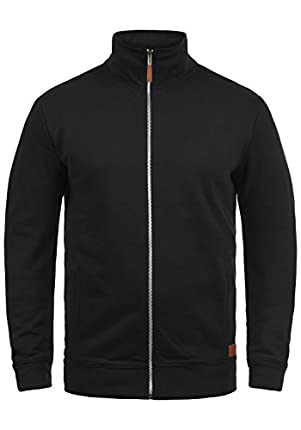 BLEND Alio Chaqueta Sudadera Jersey con Capucha con Cremallera con Forro Polar Suave Al Tacto, tamaño:L, Color:Black (70155)