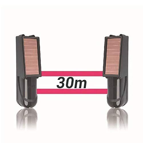 Alarma perimetral foto electrica Placa Solar Baterias SIB exterior inalámbrica. Perimetral exterior. Cerco infrarrojo. Alarma exterior. Barrera perimetral inalámbrica (30 metros)