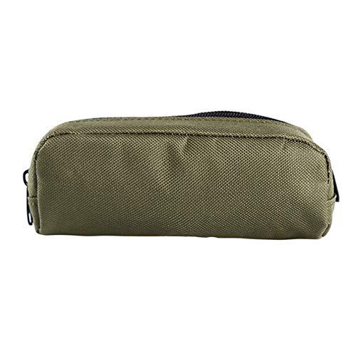 HBWHY Funda para gafas de sol tácticas para exteriores, con mosquetón, portátil, para viajes, deportes, cintura, accesorios, color verde militar