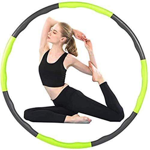 CYSHAKE Hula-Hoop Hula-Hoop eignet Sich for Fitness-Übungen, durch Unterhaltung, Fettverbrennung, gesundes Modell, bewegliches und einstellbares Design (Durchmesser 95) Gewichteter Fitness-Hula-Hoop