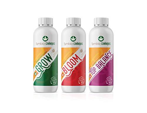 Symbio Cannabis - Fertilizzante Indoor e Outdoor: Grow 550 gr -Bloom 550 gr – Top Balance 550gr