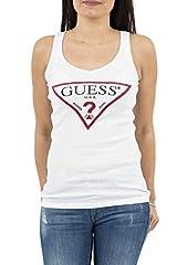 Guess Camiseta Sin Manga Blanco para Mujer W82I03-K1810-A000