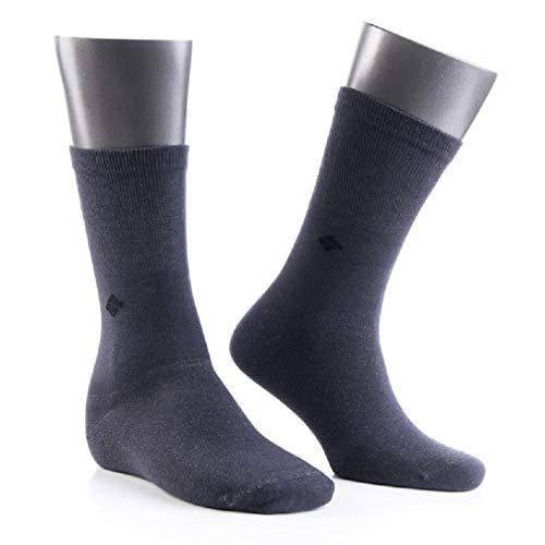 Herrensocken - Silber Socken (13% Silber) - Alltagssocken - hochwertige Materialien/Kein Polyamid (Grau, 43-46)