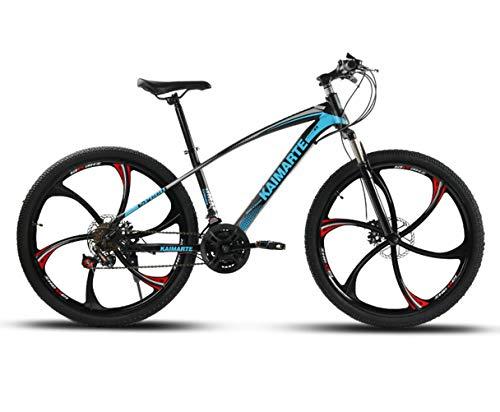 OD-B Bicicleta De Montaña De 24 Pulgadas Bicicleta con Marco De Acero De Alto Carbono Frenos De Doble Disco Bicicleta Rueda De Radios Y Rueda De Cuchillo
