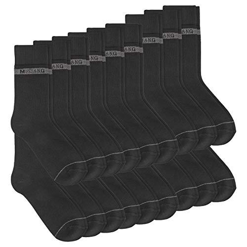 Mustang Herren Socken Basic 18er Pack, Größe:39/42, Farbe:Black (9999)