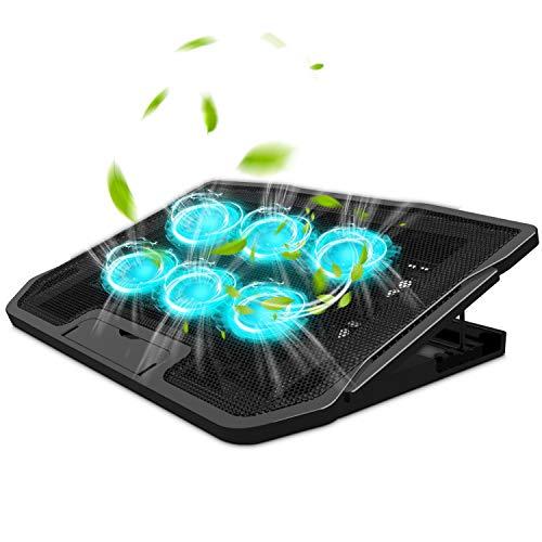 TYC Ventilador Laptop, Base De Refrigeración para Ordenador Portatil, Viento De Gran Velocidad, Diseñado para Gamers y Uso en...