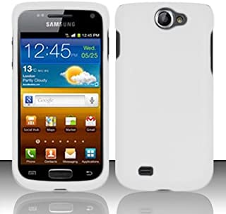 Importer520 Rubberized Snap-On Hard Skin Protector Case Cover for for (T-Mobile) Samsung Exhibit II 4G T679 - White