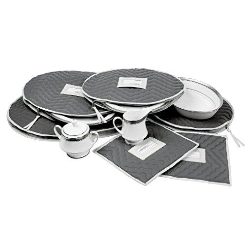 Boîte de rangement matelassé / sac pour la Chine délicate pièces de service / accessoires