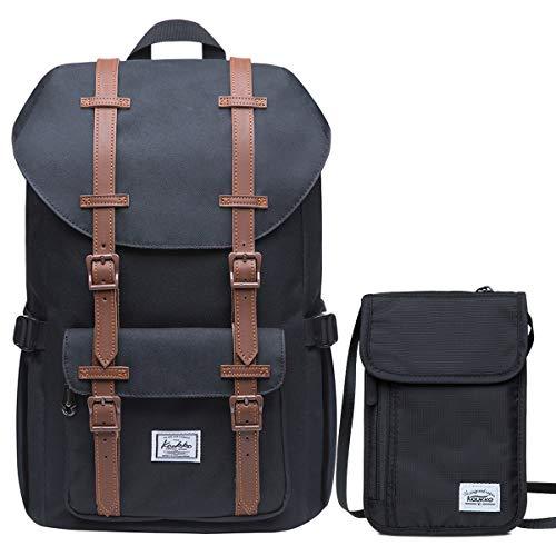 KAUKKO Rucksack Damen Herren 16 Zoll Backpack für 13