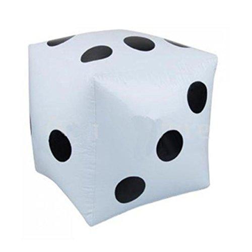 TOYMYTOY Grandes dados inflable para piscina juguete partido favorecen (blanco)
